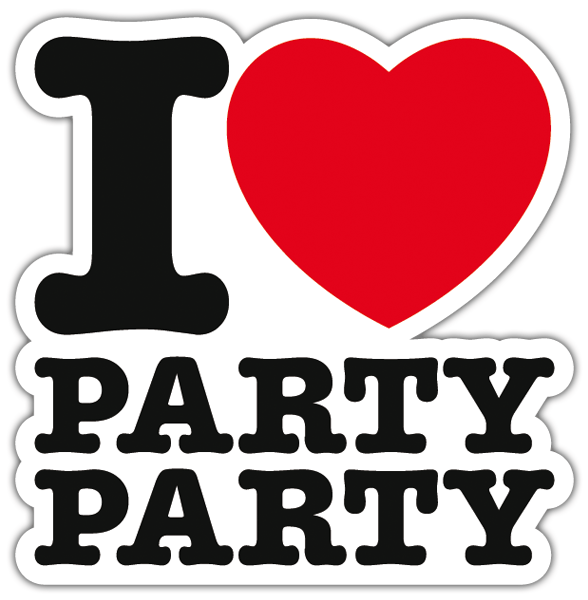 Pegatinas: I love party