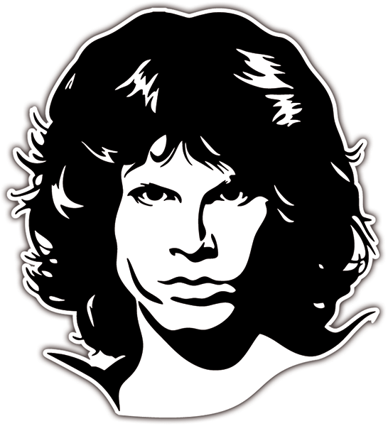 Pegatinas: Jim Morrison The Doors