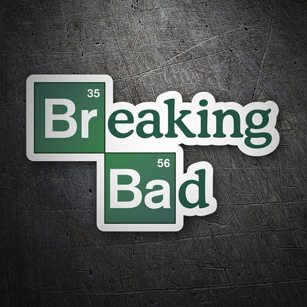Pegatinas: Breaking bad logo 1
