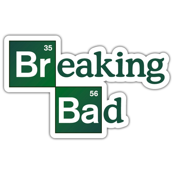 Pegatinas: Breaking bad logo