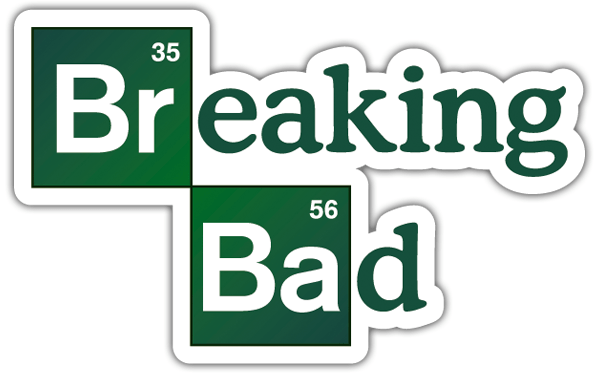 Pegatinas: Breaking bad logo 0
