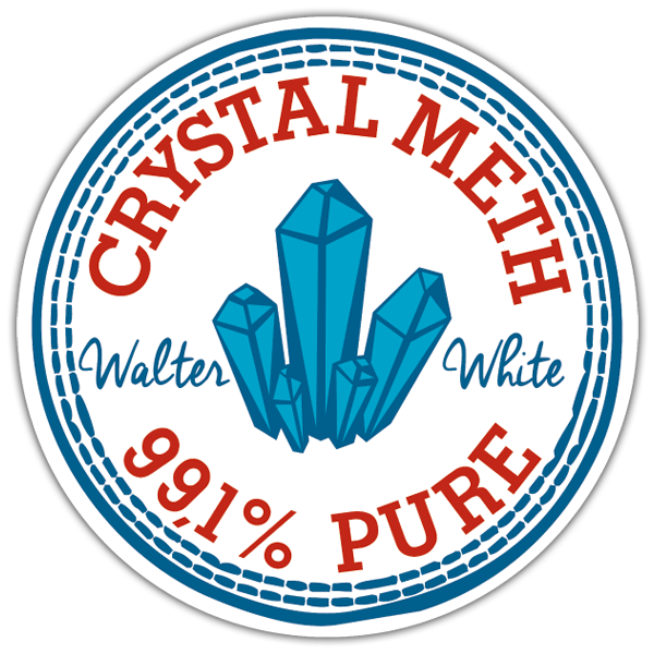 Pegatinas: Breaking bad Parche Crystal Meth