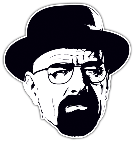 Pegatinas: Breaking Bad Walter White con sombrero