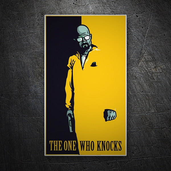 Pegatinas: Breaking Bad The one who knocks