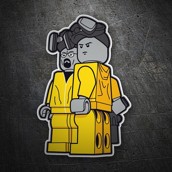 Pegatinas: Breaking Bad Lego 1