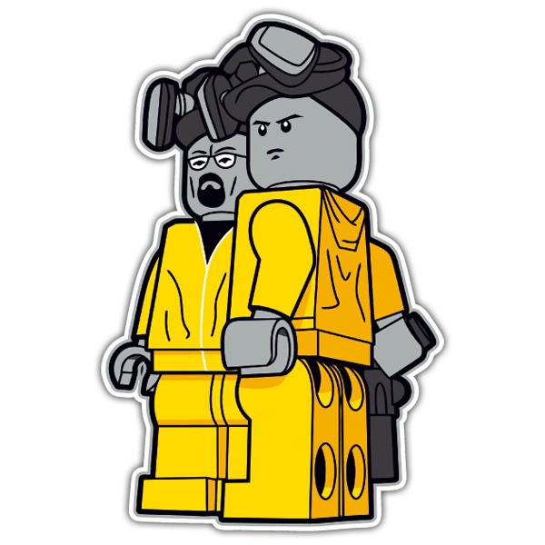 Pegatinas: Breaking Bad Lego