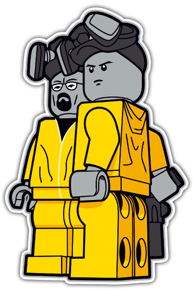 Pegatinas: Breaking Bad Lego 0