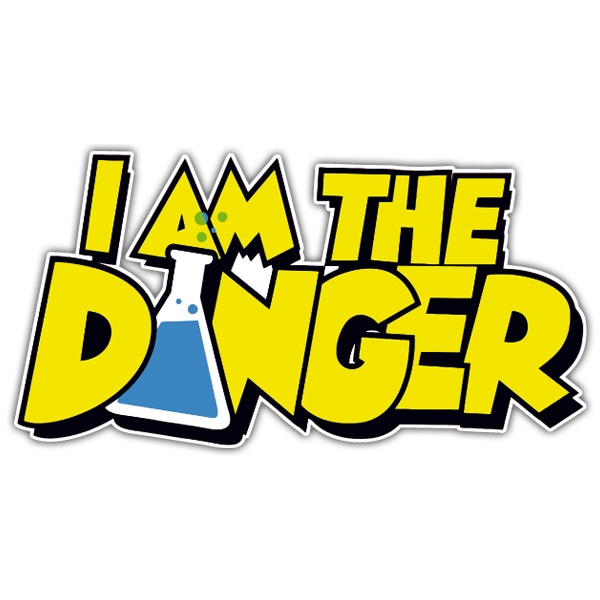 Pegatinas: Breaking Bad I am the Danger
