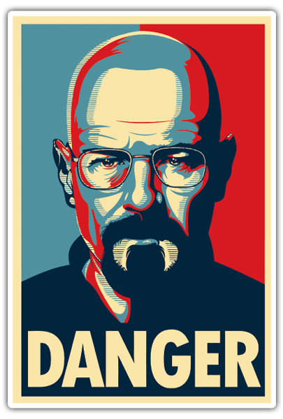 Pegatinas: Breaking Bad Danger