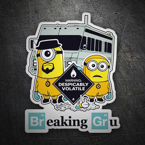 Pegatinas: Breaking Bad Minion