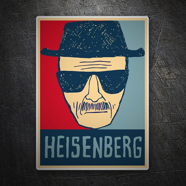 Pegatinas: Breaking Bad Heisenberg 2 1