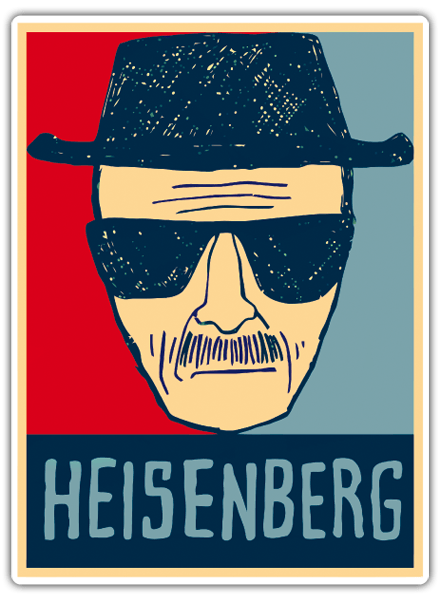 Pegatinas: Breaking Bad Heisenberg 2 0