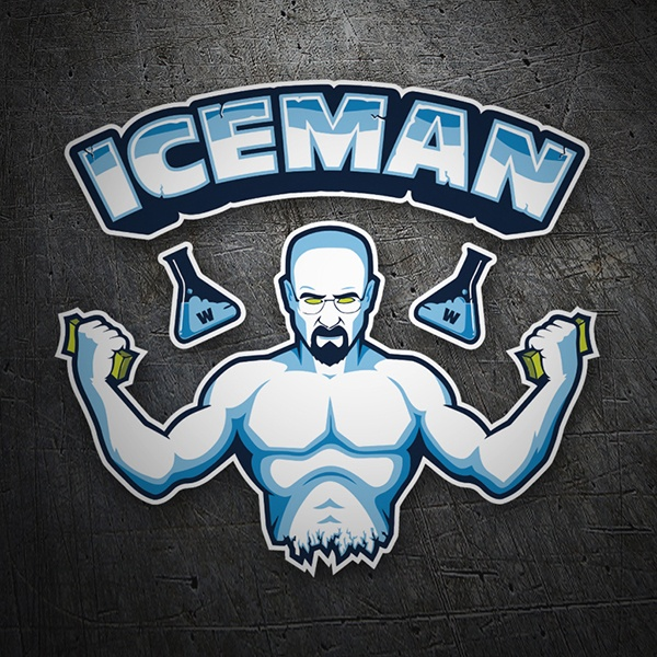 Pegatinas: Breaking Bad Iceman 1