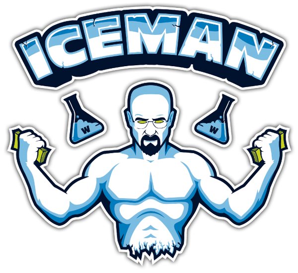 Pegatinas: Breaking Bad Iceman 0