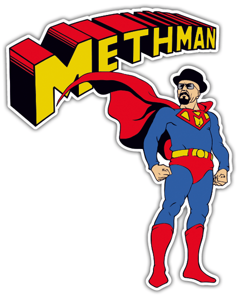 Pegatinas: Breaking Bad Superman