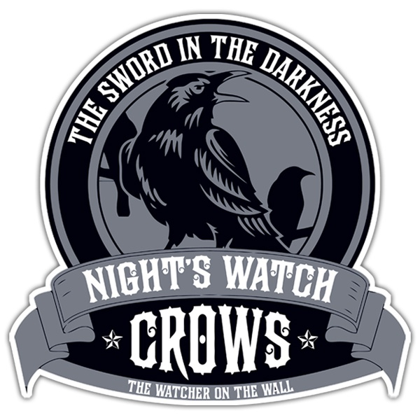 Pegatinas: Nights Watch Crows