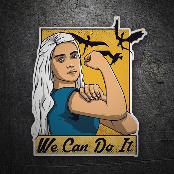 Pegatinas: Juego de Tronos We Can Do It 1