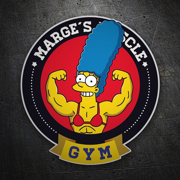 Pegatinas: Marge Muscle