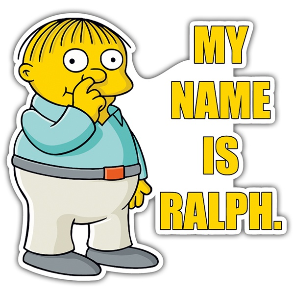 Pegatinas: My Name Is Ralph