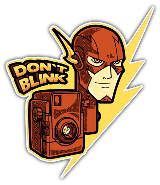 Pegatinas: Flash Don't Blink 0