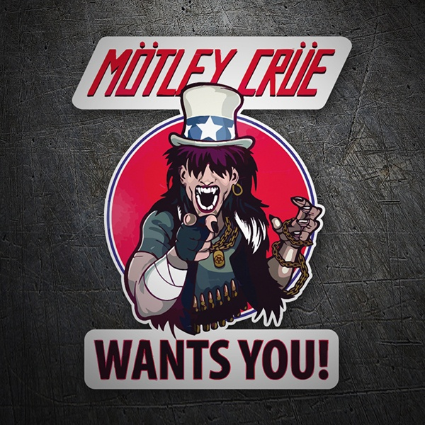 Pegatinas: Mötley Crüe, Wants You?