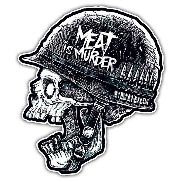 Pegatinas: Meat is Murder