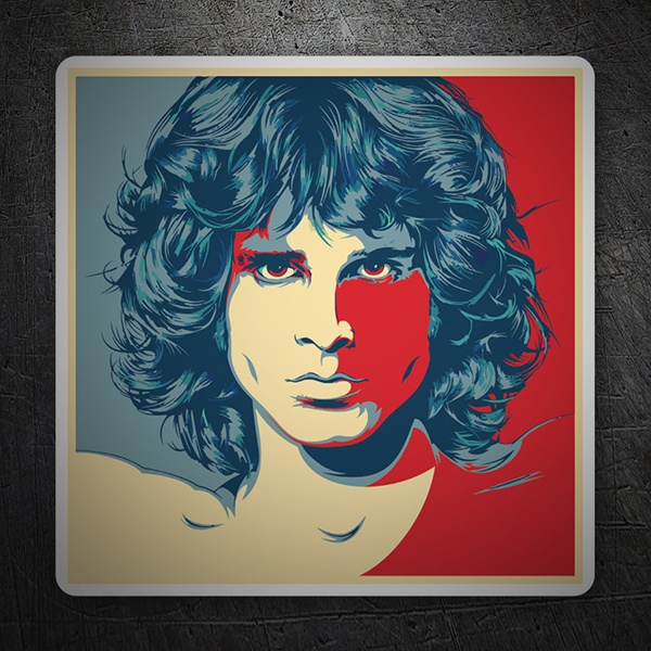 Pegatinas: Jim Morrison Pop Art