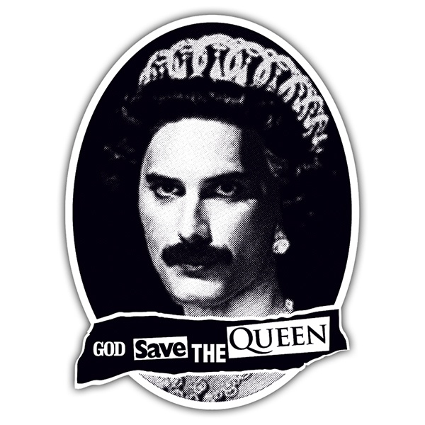 Pegatinas: God save the Queen