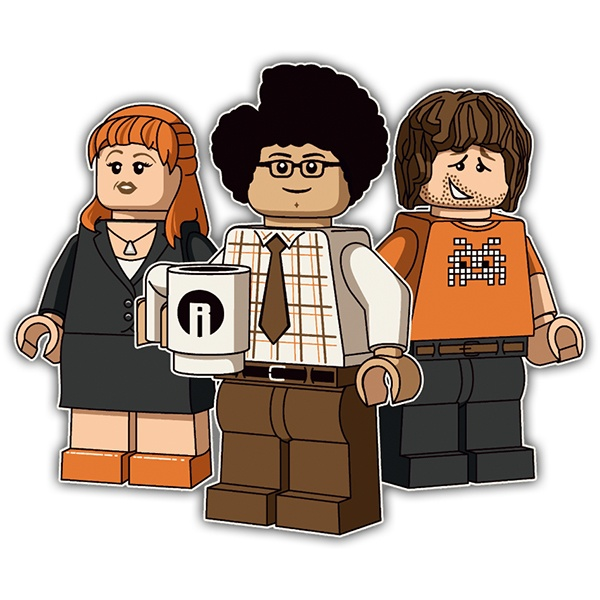 Pegatinas: Lego the it crowd