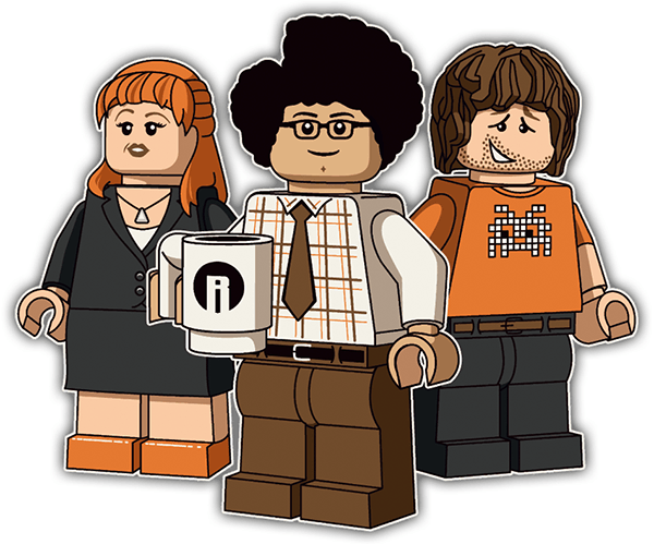 Pegatinas: Lego the it crowd 0