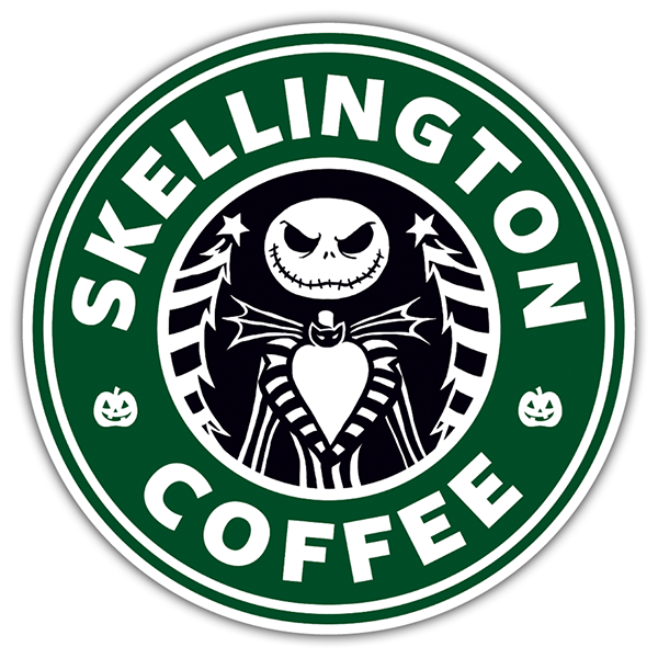 Pegatinas: Skellington Coffee