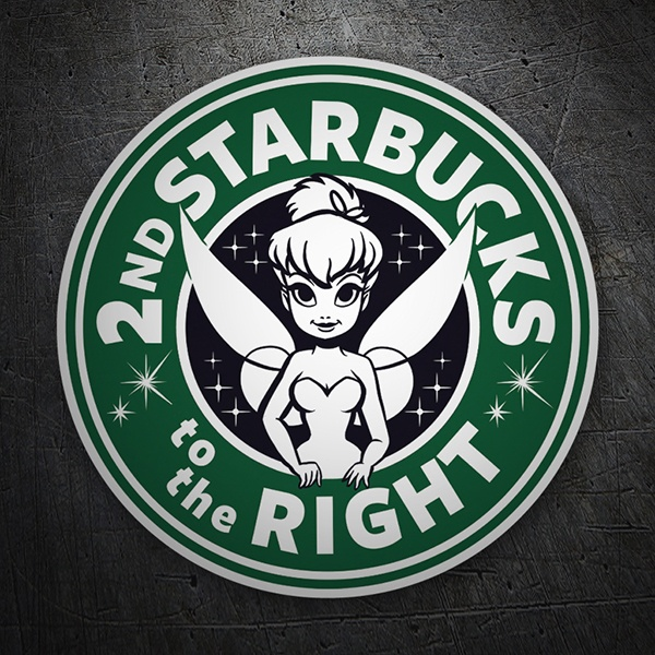 Pegatinas: Starbucks to the right