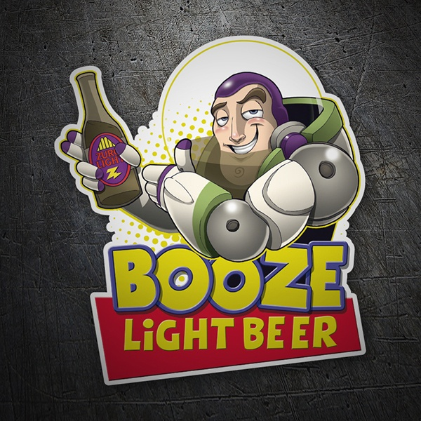 Pegatinas: Booze Light Beer 1