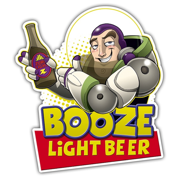 Pegatinas: Booze Light Beer