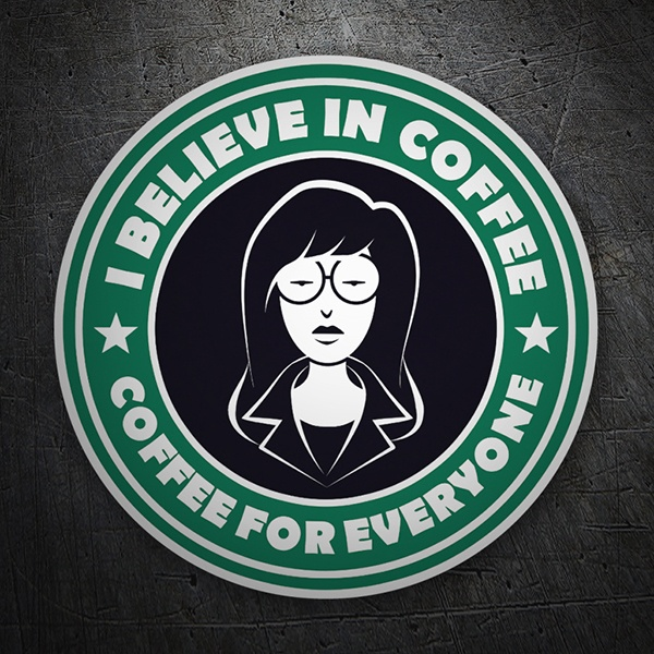 Pegatinas: I believe in coffee