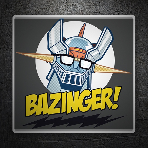 Pegatinas: Mazinger Z en The Big Bang Theory