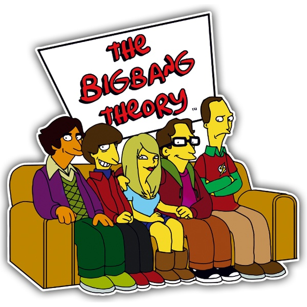 Pegatinas: The Simpsons big bang theory