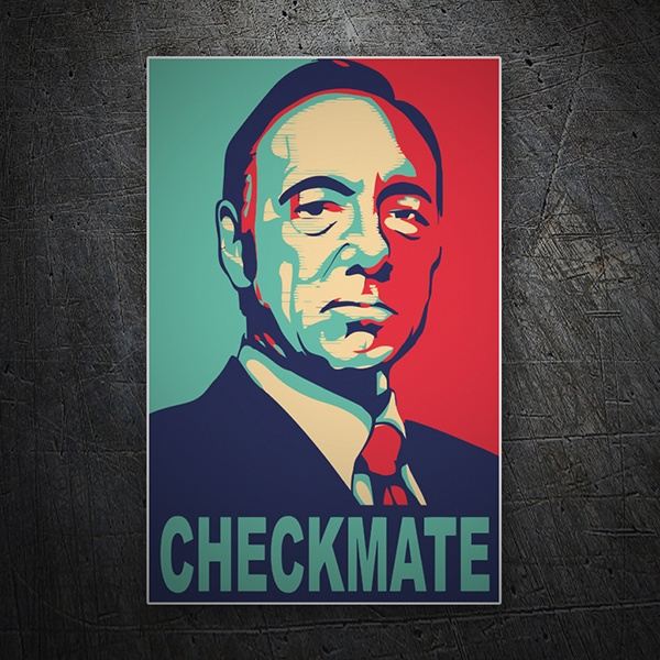 Pegatinas: Kevin Spacey Checkmate