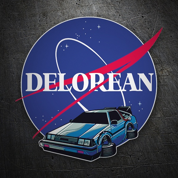 Pegatinas: Delorean Nasa