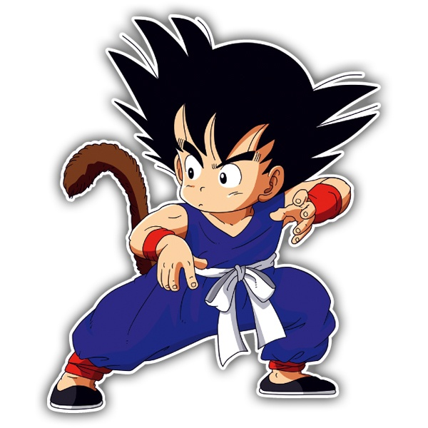 Pegatinas: Goku defensa