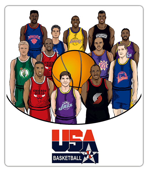 Vinilos Decorativos: Dream team USA