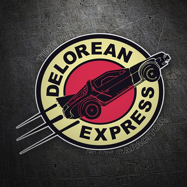 Pegatinas: Delorean Express