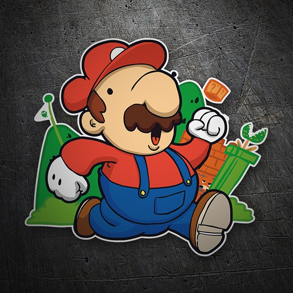 Pegatinas: Super Mario Cartoon