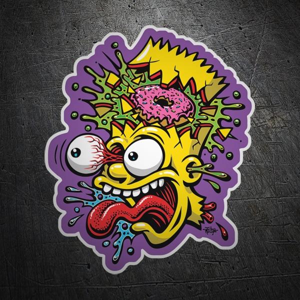 Pegatina bart simpson descompuesto - Pegatinas para la pared ...