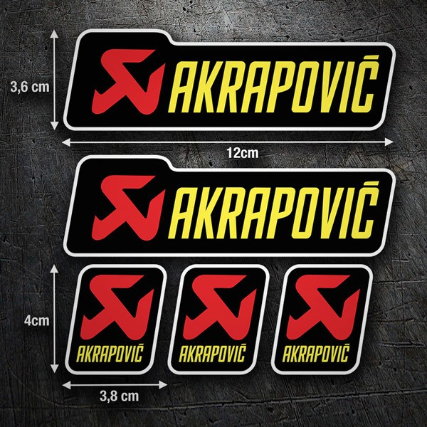 Pegatinas: Kit Akrapovic