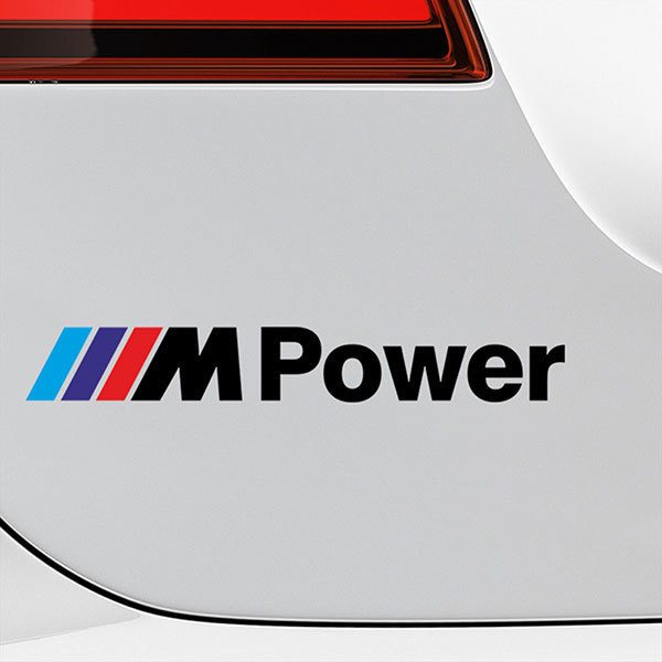 Pegatinas: BMW Power Negro