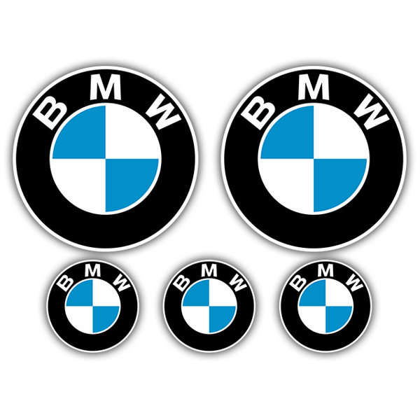 Pegatinas: Kit BMW Logo
