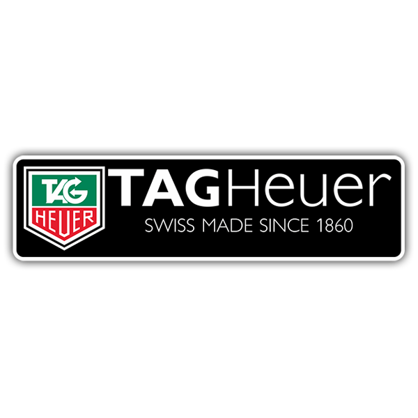 Pegatinas: Tag Heuer Swiss Made Since 1860
