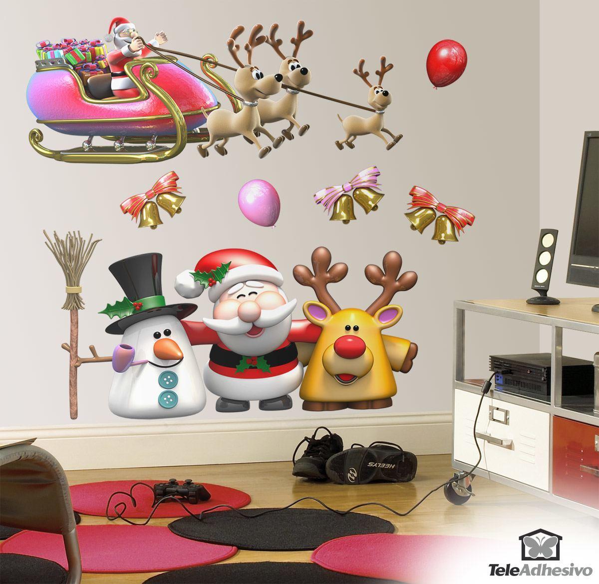 Kit de vinilos navideños de Papá Noel