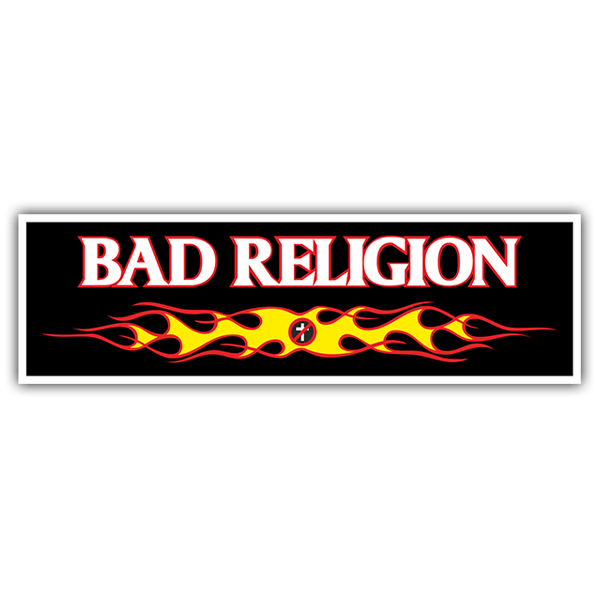 Pegatinas: Bad Religion Fire